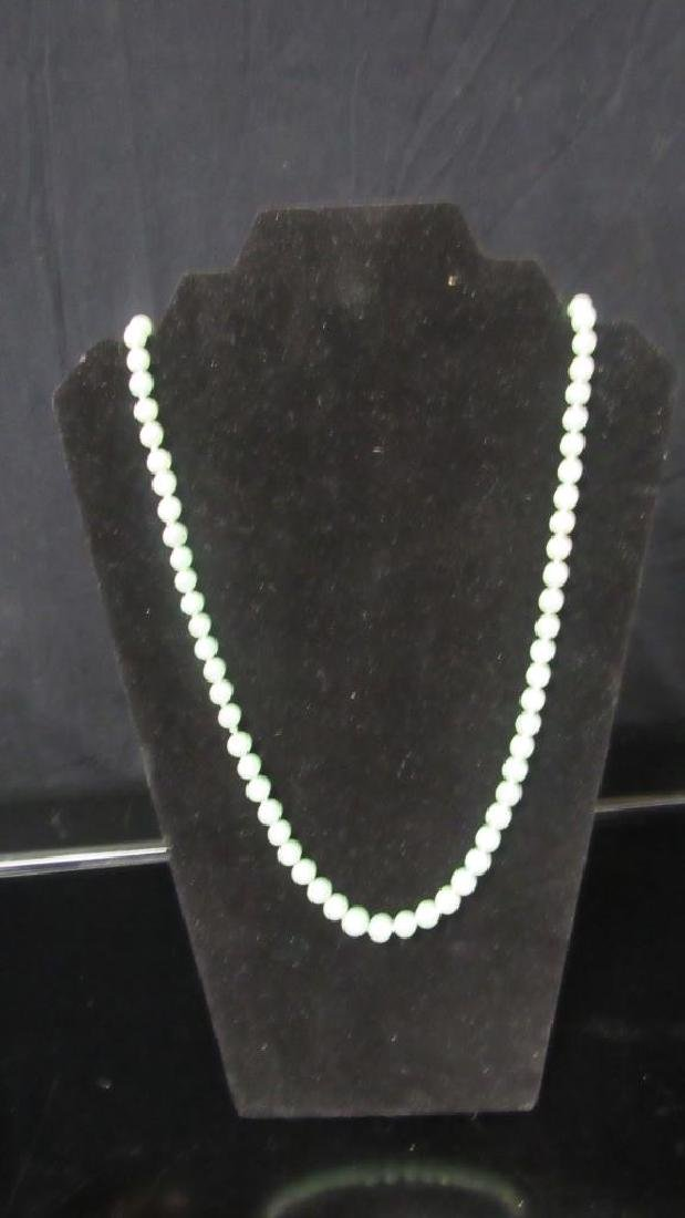 White Jade Bead Necklace