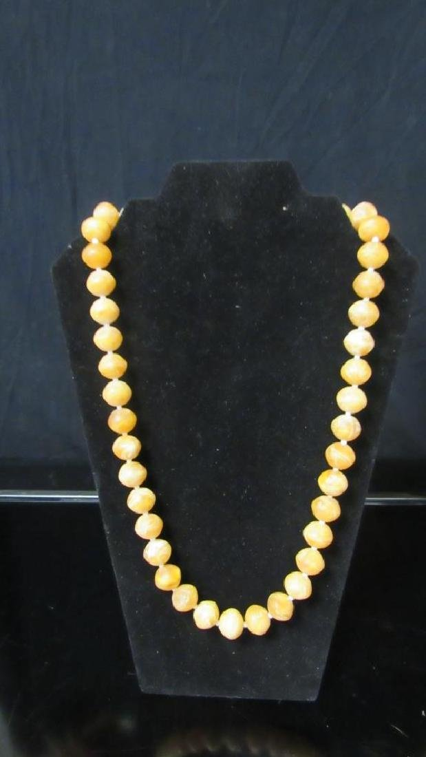 Wax Bead Necklace