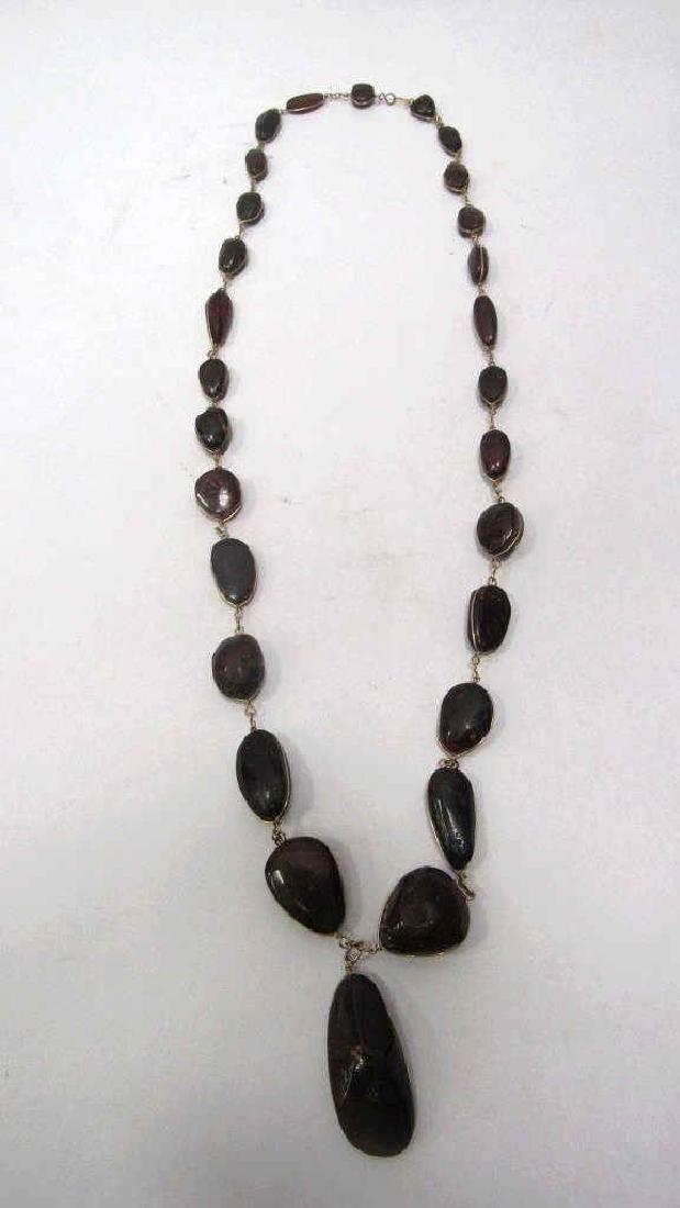 Vintage Amber silver Necklace W 18 kg