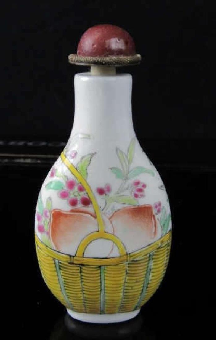 19th Century Enameled Porcelain Snuff Bottle