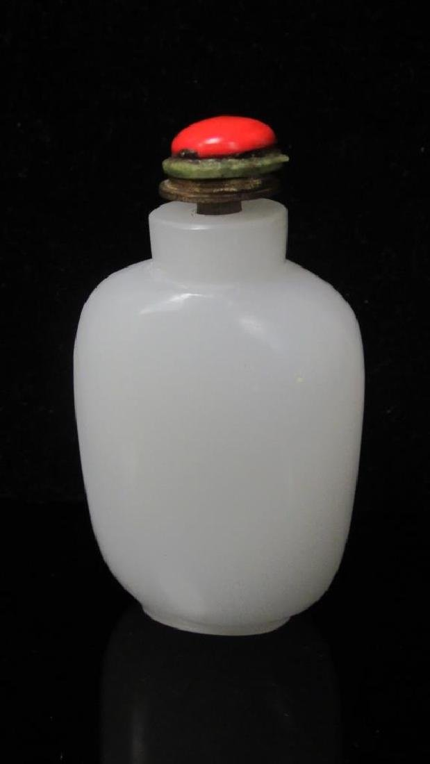 WHITE JADE SNUFF BOTTLE