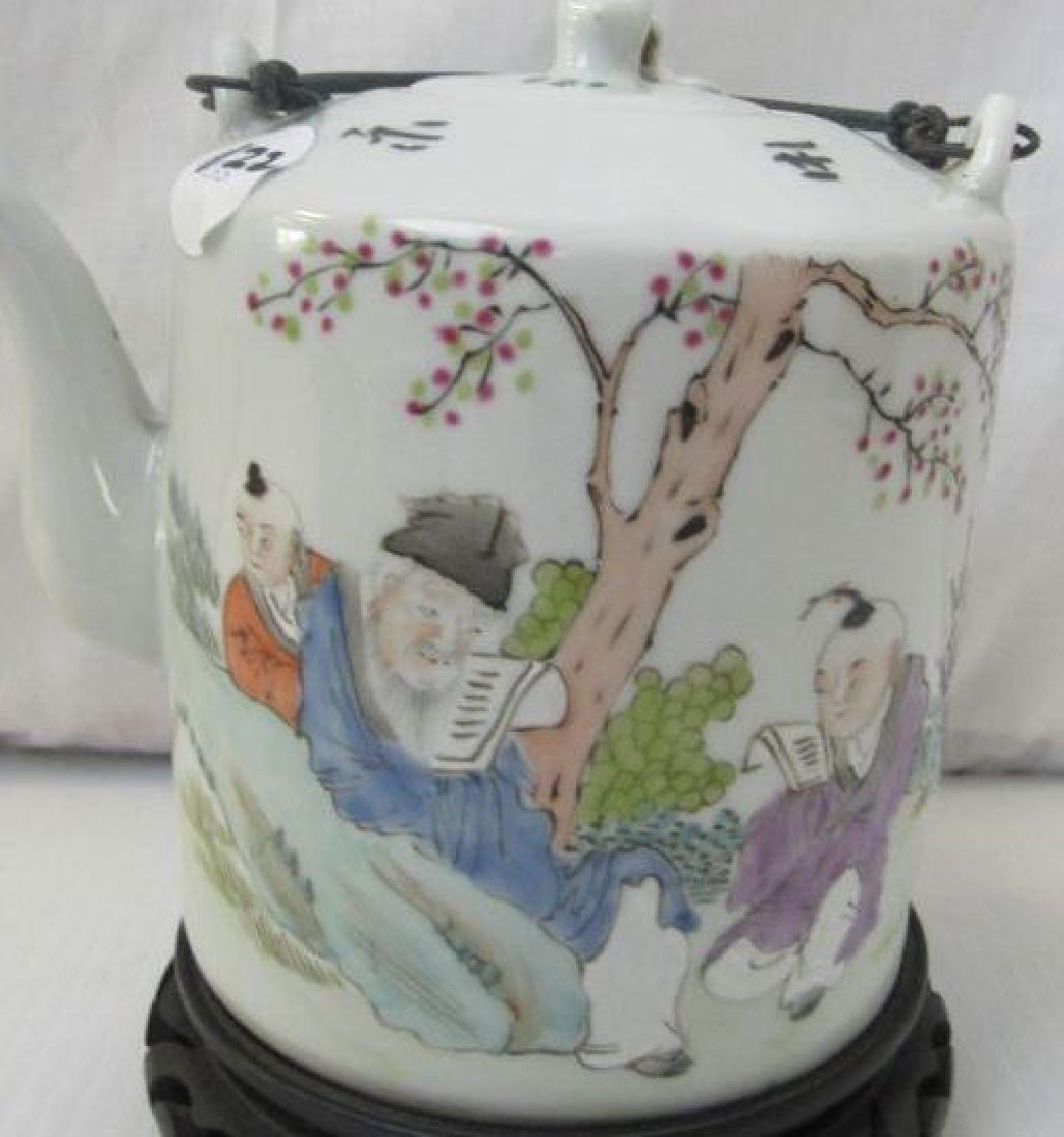 Chinese Shallow Teapot