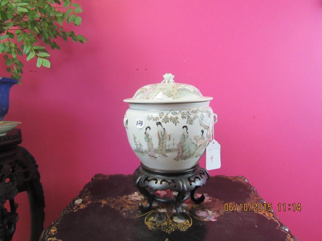 18th Century Enameled Porcelain Soup Tureen