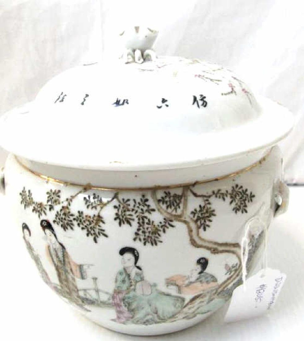 Enameled Porcelain Soup Tureen