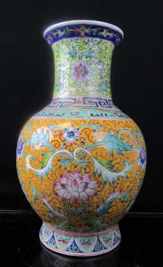 19th Century Qing Dynasty Enameled Porcelain Vase