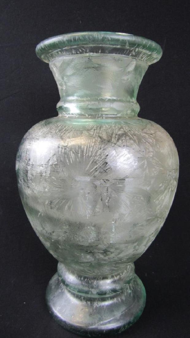 Qing Dynasty Style Large Chinese Glass Vase