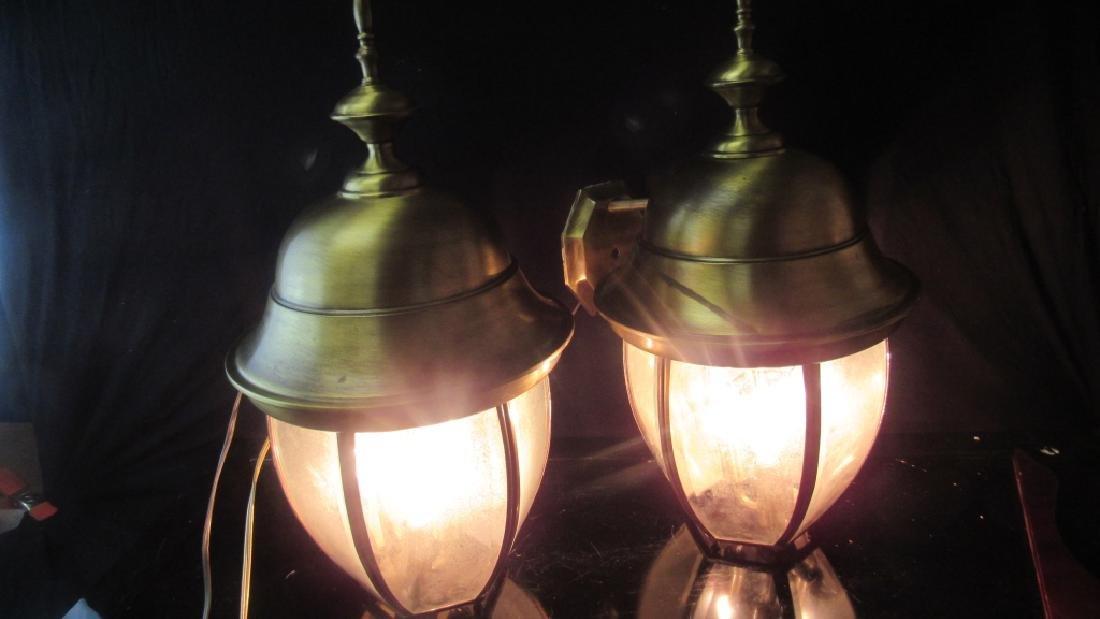 Pair of Hanging Light Fixtures