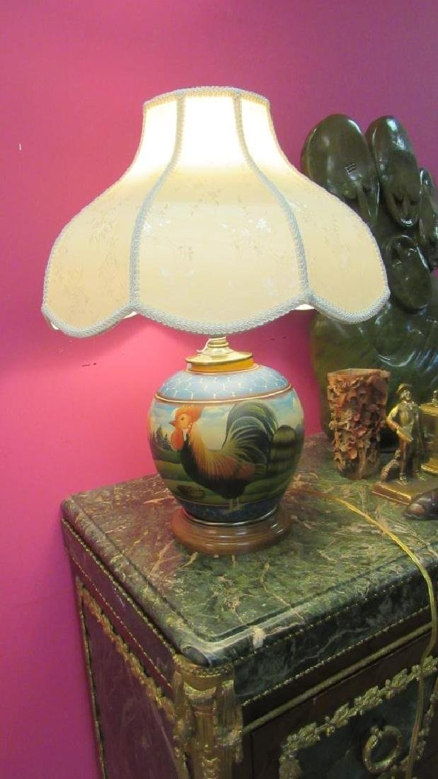 Painted Porcelain Table Lamp