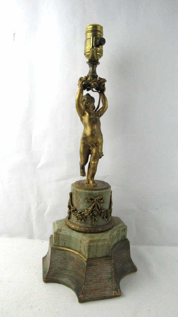 Vintage Gilt Bronze Table Lamp