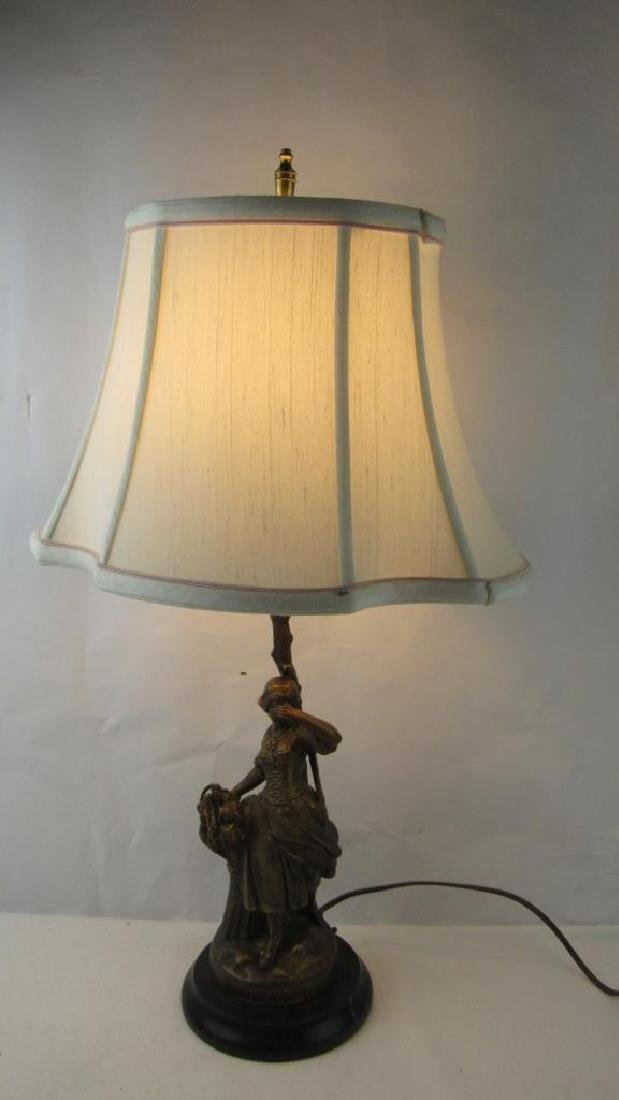 French Figural Table Lamp