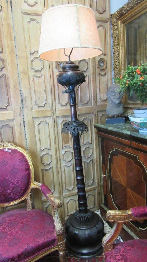 Vintage Bronze Electric Floor Lamp