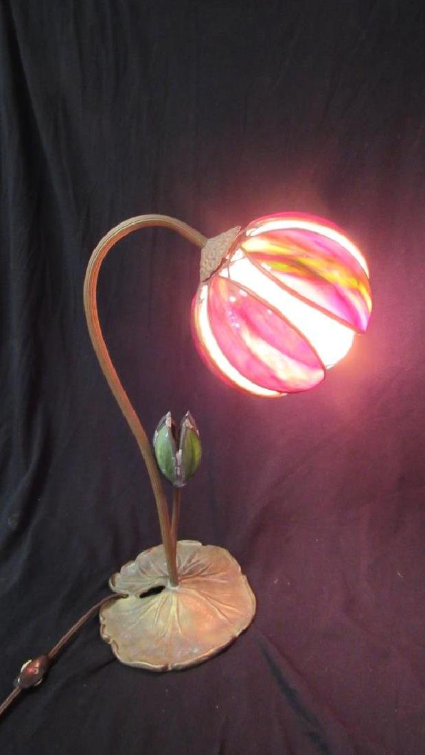 Vintage Table Lamp with Glass Petal Shades