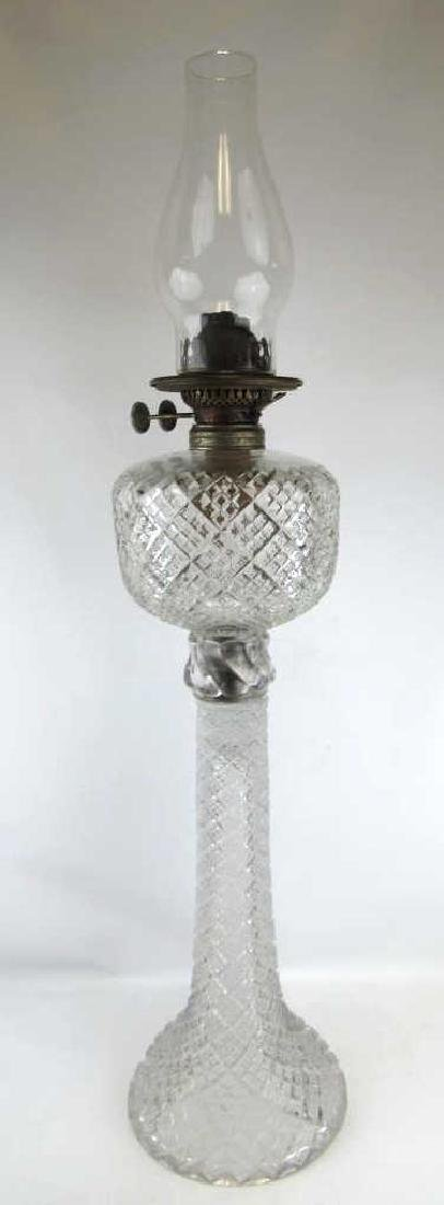 Tall Glass Oil Lamp