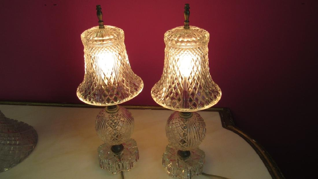 Pair of Vintage Crystal Lamps