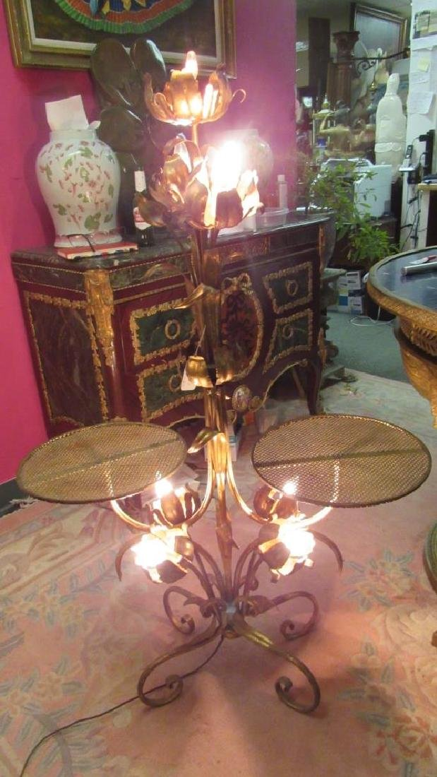 19th-20th Century Gild Bronze Floor Lamp