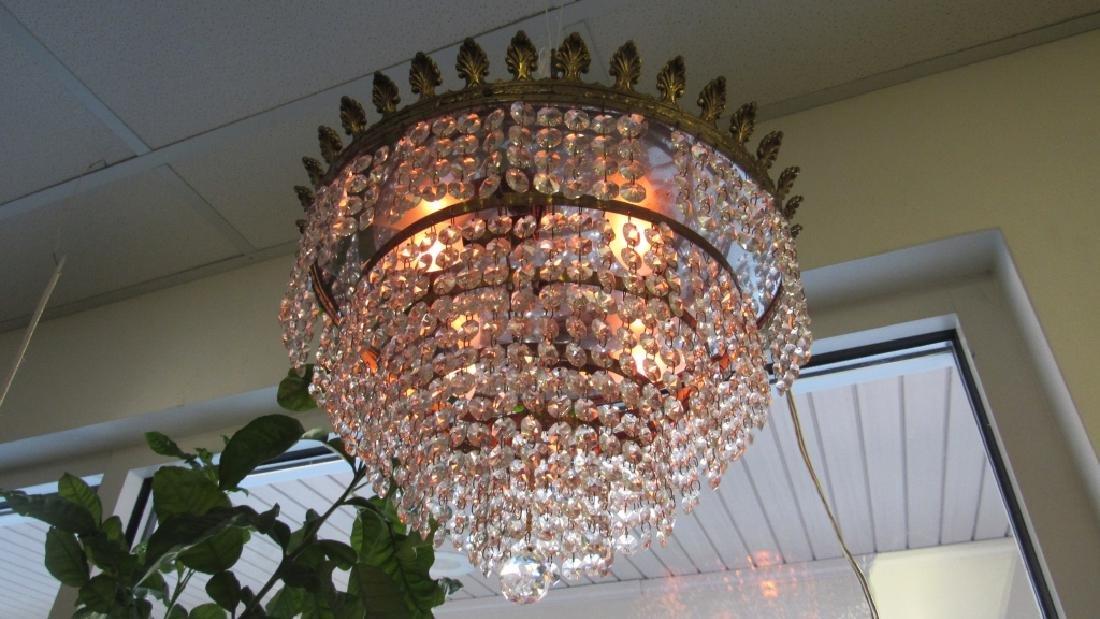 Art Deco Crystal Chandelier