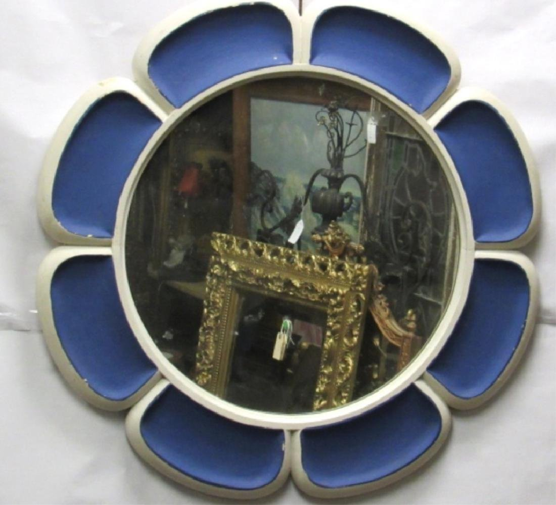 Unique Flori-Form Blue Mirror