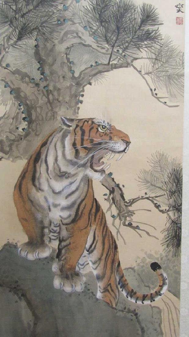 Very Old Watercolor Scroll Painting
