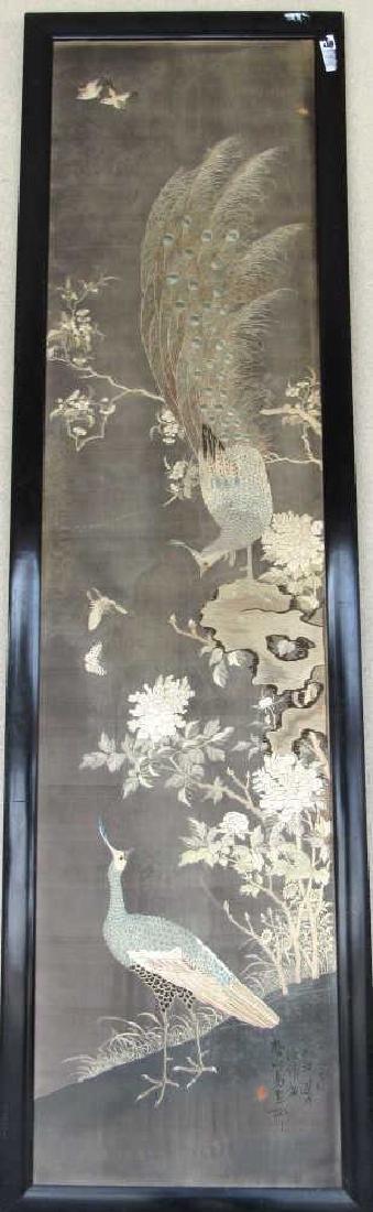 Qing Dynasty Silk Framed Painting