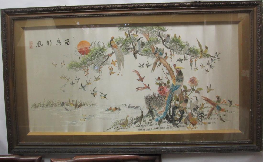 Chinese Silk Painting of Birds