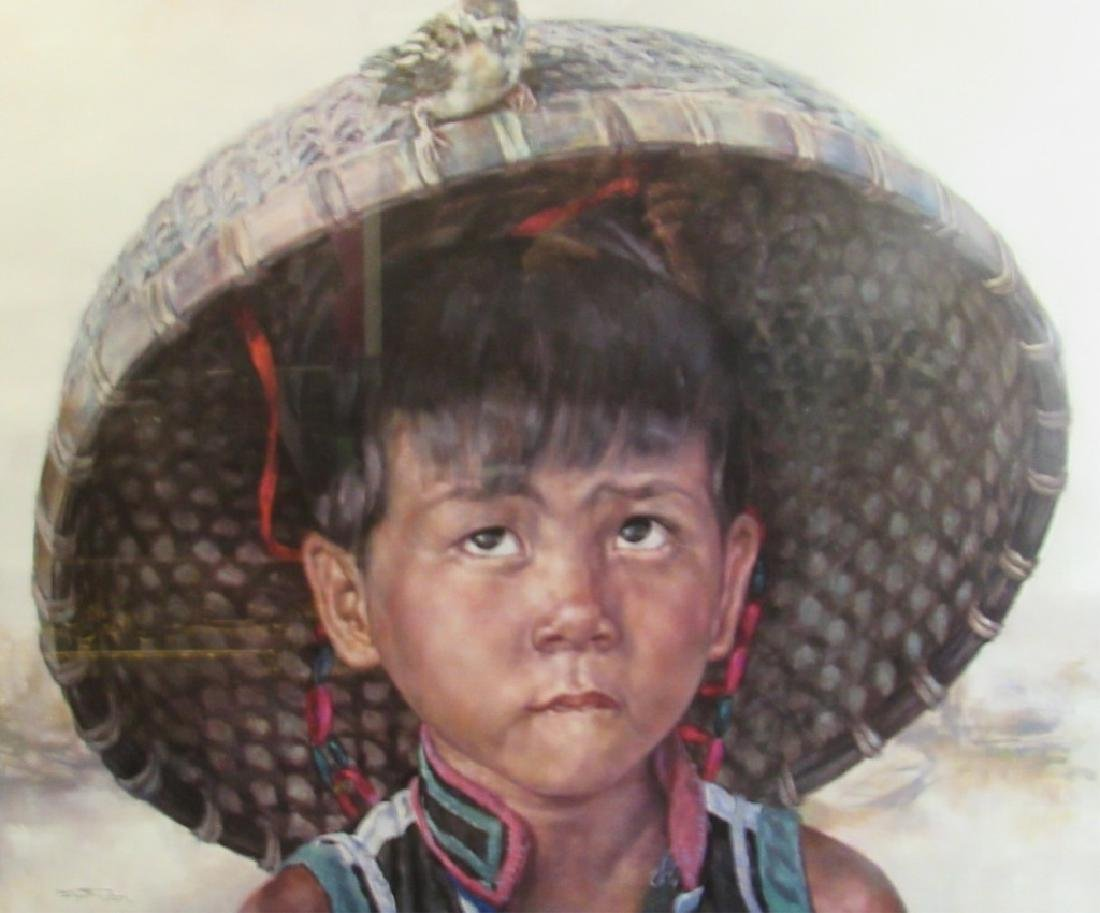 Painting of a South Asian Boy