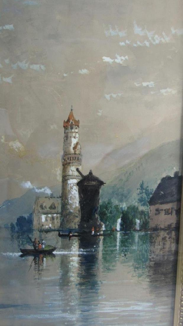 Original French Watercolor Painting