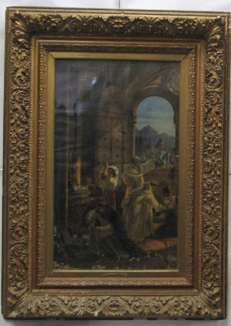 18th Century German Oil on Canvas Painting