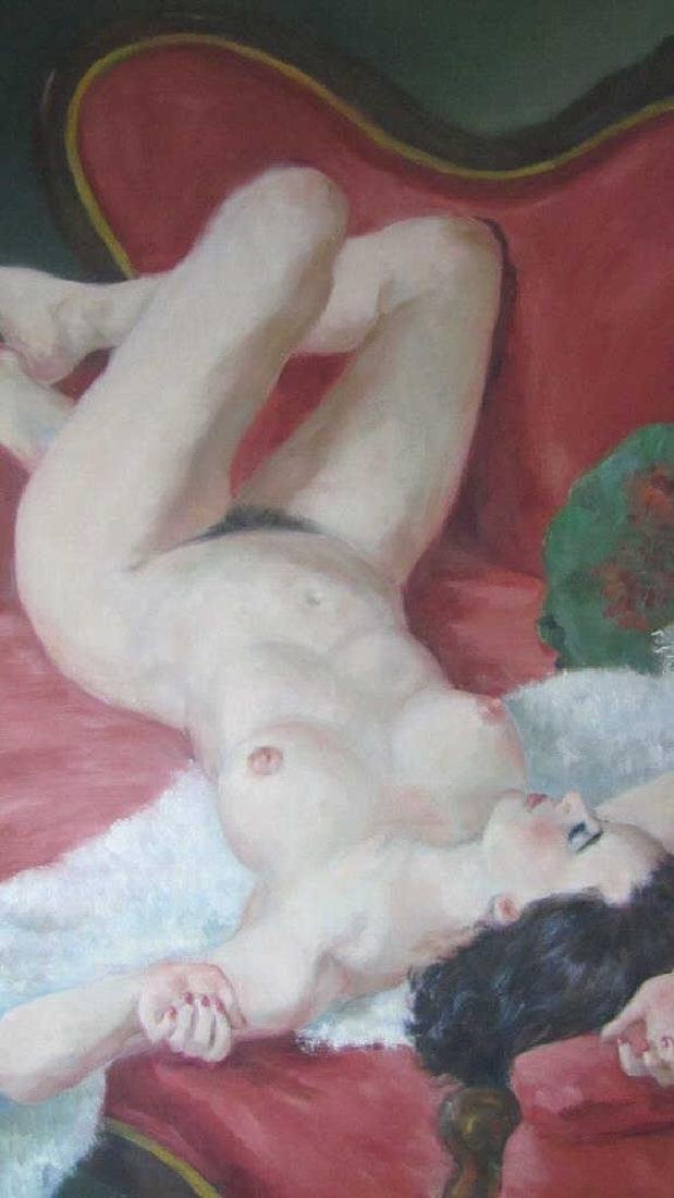 European Nude Oil on Canvas Painting