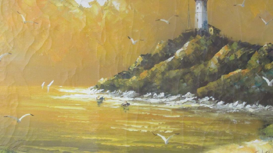 Original Oil Painting of a Light House