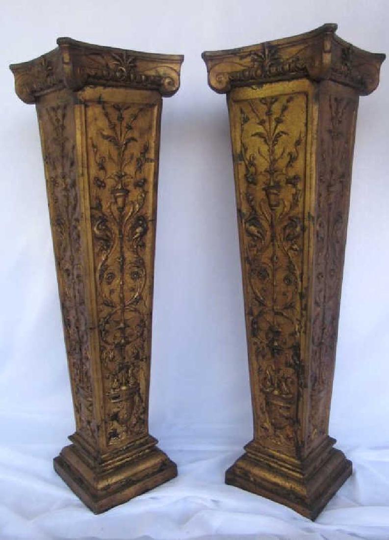 Pair of Wooden Pedestal Stands