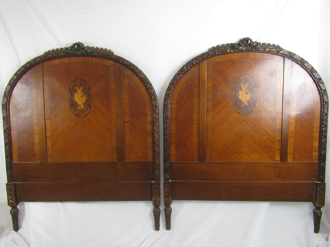 Pair of Twin Mahogany Headboards