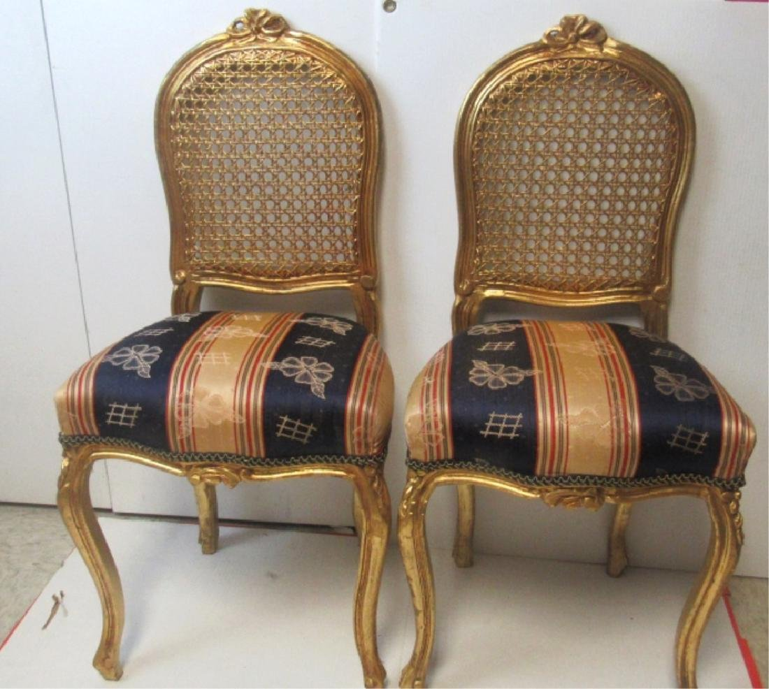 Pair  Victorian Burl Walnut Parlor Chair, Upholste