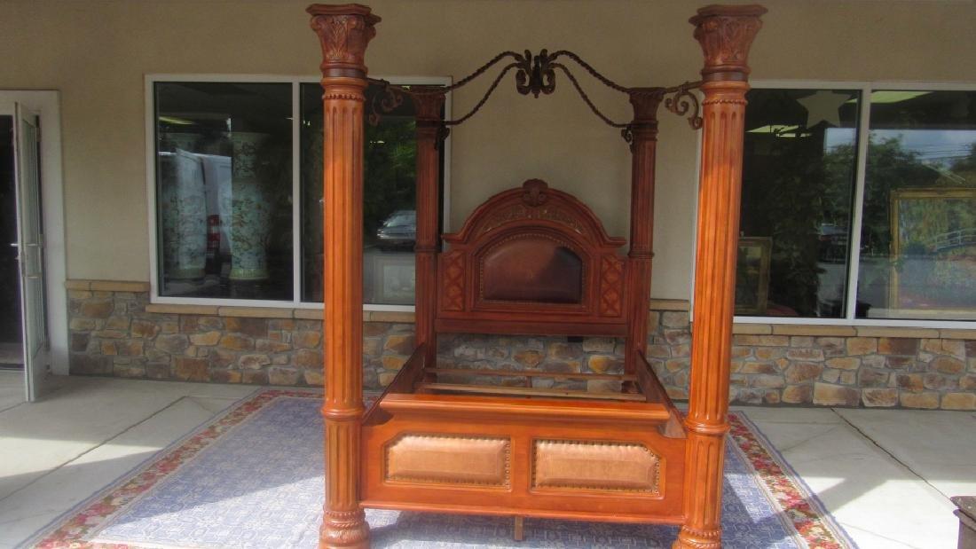 Oak 4 Post Canopy Bed