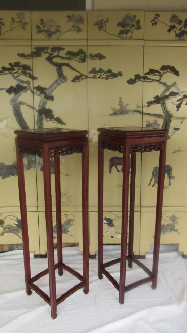 Pair of 20th Century Huanghuali Wood Stands