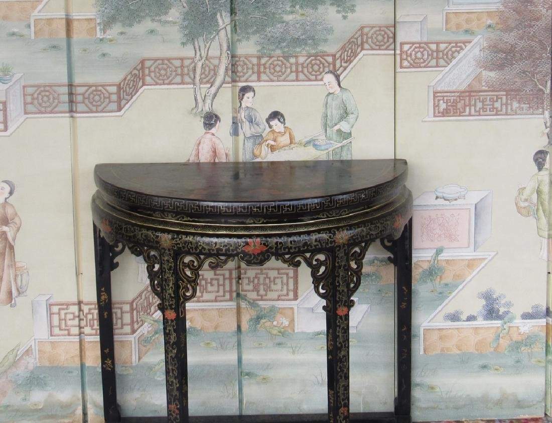Carved Wood Hall Table