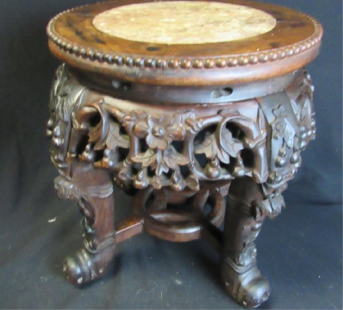 Qing Dynasty Rosewood Plant Stand