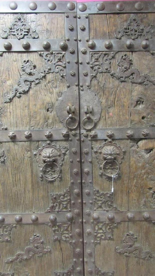 Pair of Ming Dynasty Dragon Doors