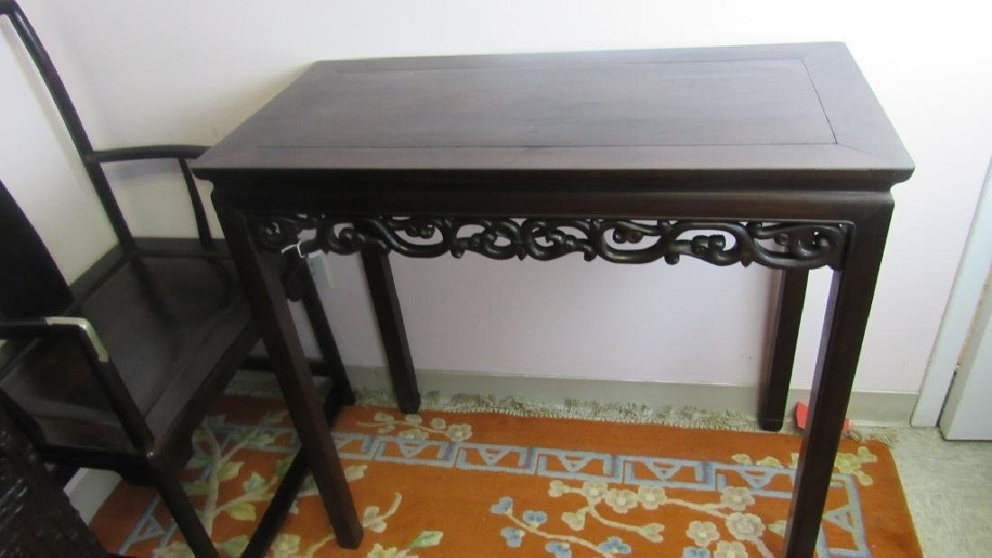 Qing Dynasty Zitan Wood Console Table