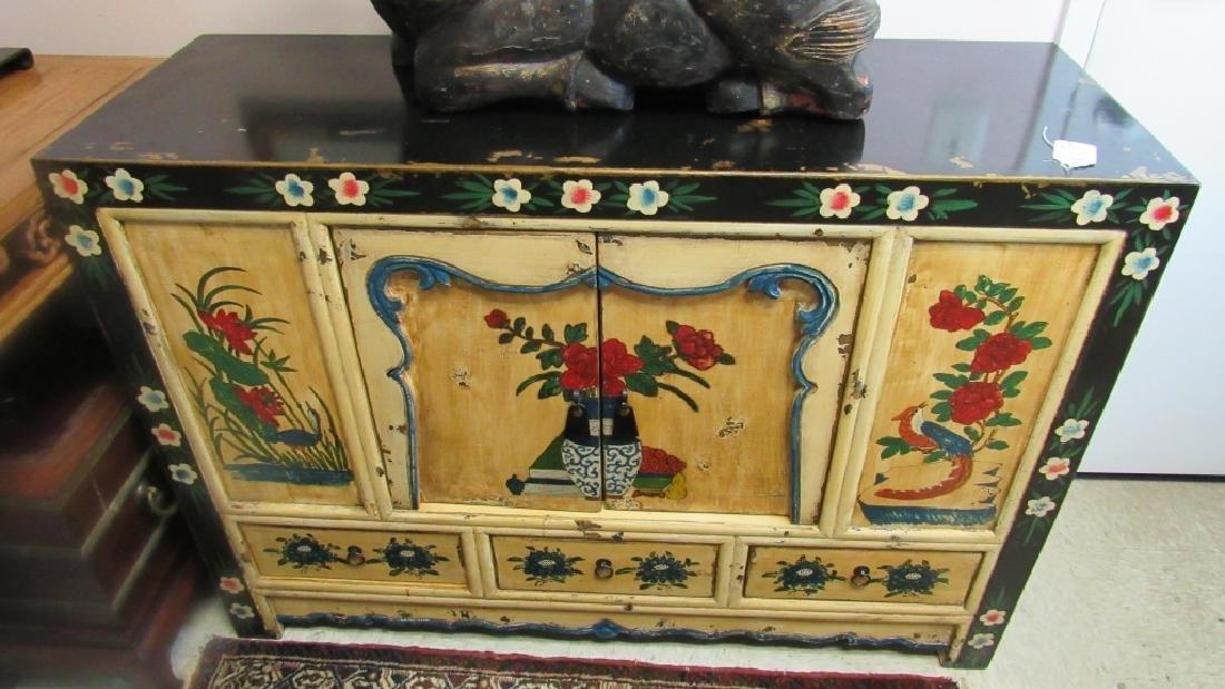 19th Century Enameled Wood Cabinet