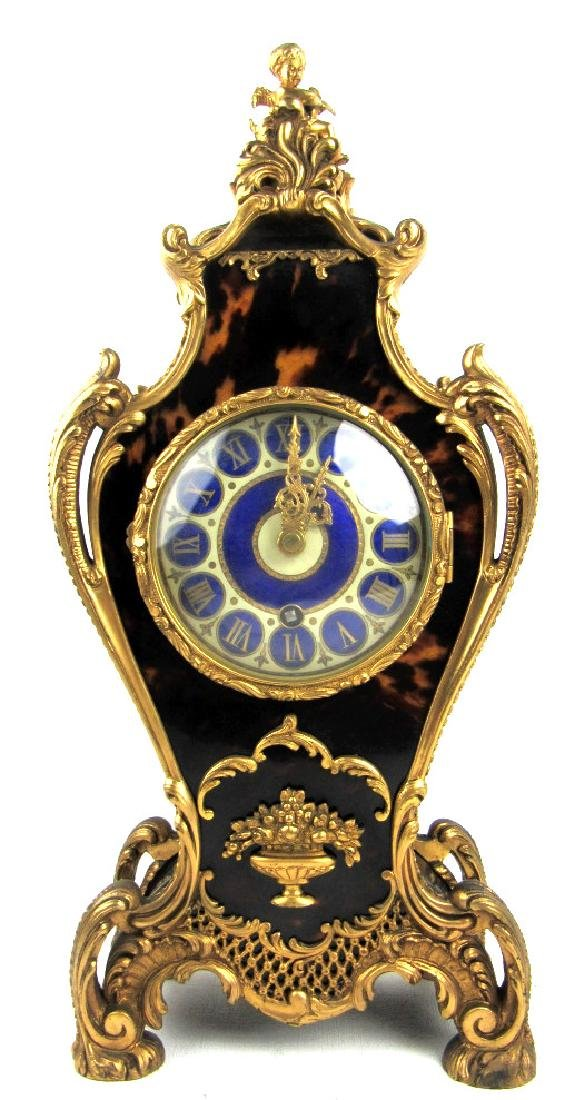 19th Century French gold Lobster skin Clock
