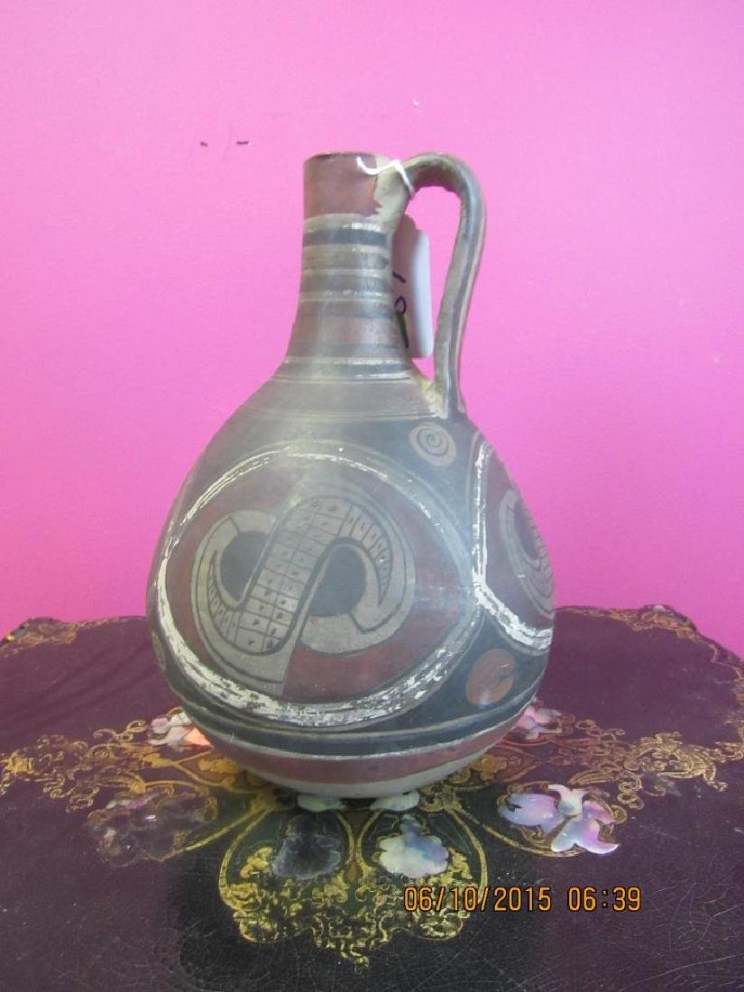 Peruvian Glazed Pottery Water Vessel