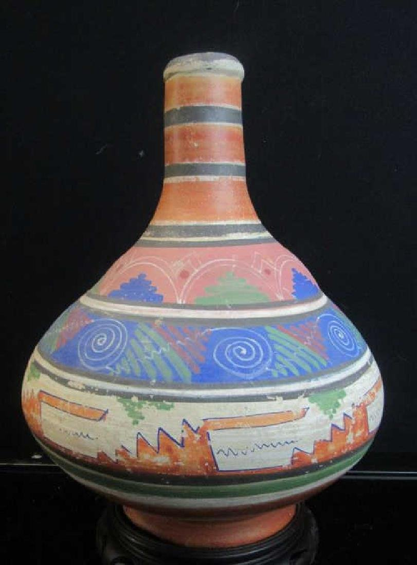 Glazed pottery Native American Vase
