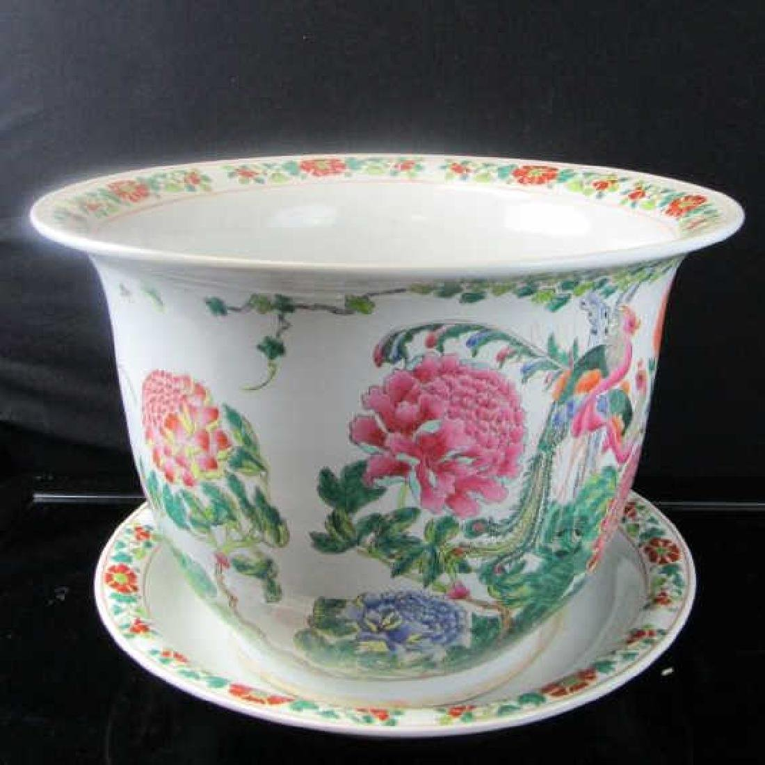 Qing Dynasty 20th Century Enameled Flowerpot