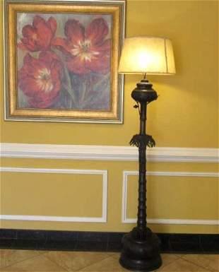 Vintage Bronze Electric Floor Lamp