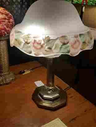 Beautiful White Glass Table Lamp