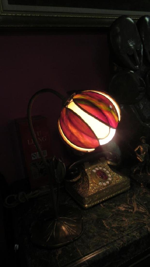 Vintage Table Lamp with Glass Petal Shades - 3