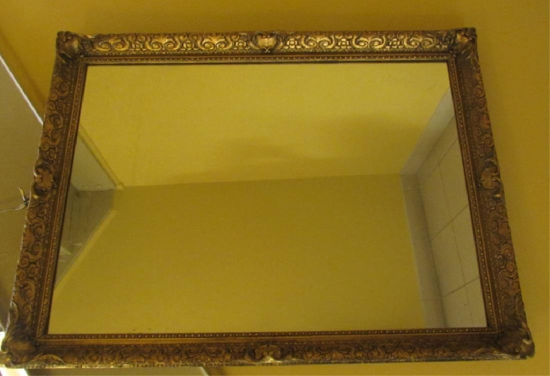 Large Mirror with Gold Color Frame