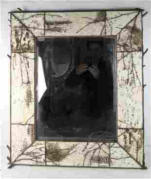 Birch Bark Hanging Mirror