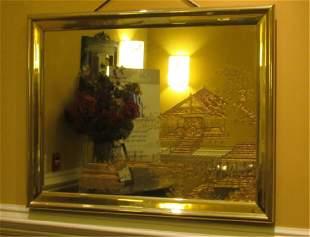 Gold Gilt Hanging Mirror