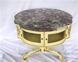 Victorian Style Round Table with Drawers